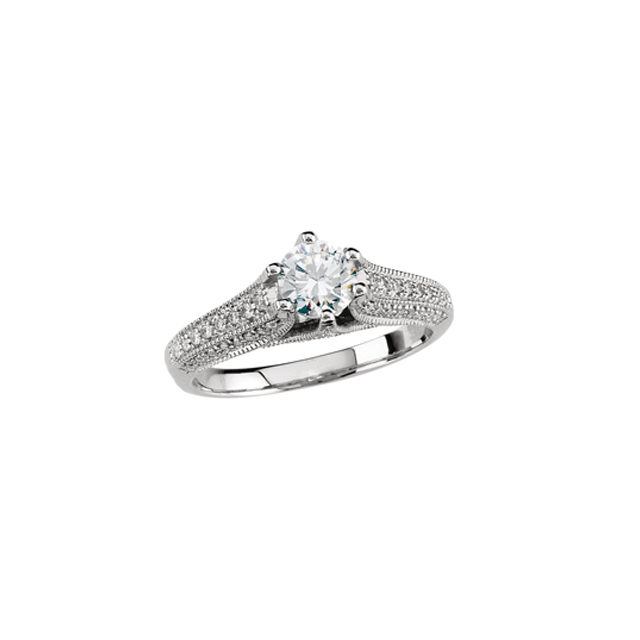 White Gold Engagement Ring at Adore Jewelry Diamond Center
